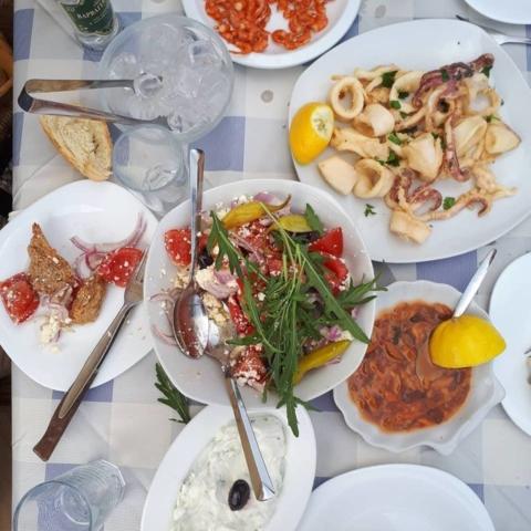 Manias fish tavern in Kalymnos - Kalymnos seafood